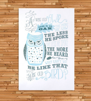 The Wise Old Owl Canvas Print Made Quotes And Sayings