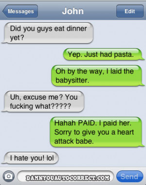 funny auto-correct texts - Top 50 Funniest Autocorrects Of DYAC's ...