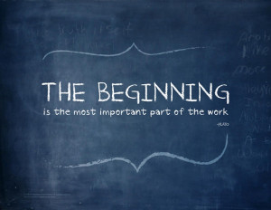 NEW ART POSTER – The Beginning Printable Quote Art