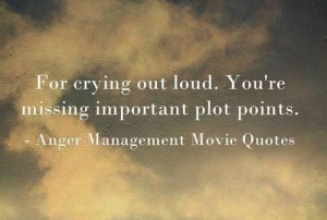 """For crying out loud. You're missing important plot points."""""""