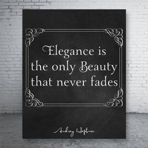 Elegance is ... Audrey Hepburn Quotes Home Decor by CustomBazaar, $5 ...