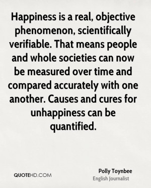 Happiness is a real, objective phenomenon, scientifically verifiable ...
