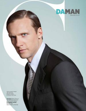 Suit by Giorgio Armani , shirt and tie by Emporio Armani , tie clip by ...