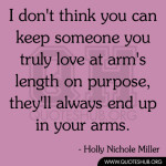 don't think you can keep someone you truly love
