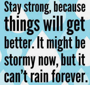 Positive quote. dont let them rain on your parade