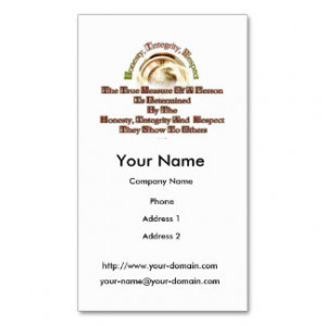 Honesty Quotes Business Cards