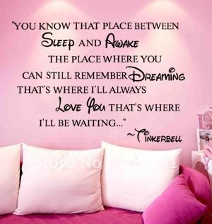 funlife-110x80cm-43-3x31-5-in-Tinkerbell-Quote-Kids-room-Art-Mural ...