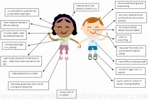 signs of sensory processing disorder from cornerstonepediatriccenter ...