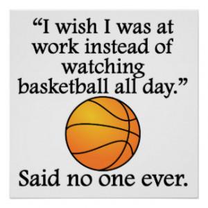 Basketball Sayings Posters