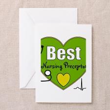 best nursing preceptor green.PNG Greeting Cards (P for