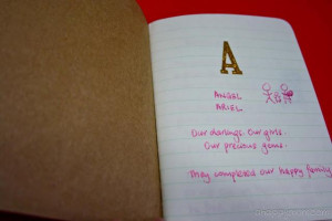 Will you have a think about what to write in your Love Alphabet book?