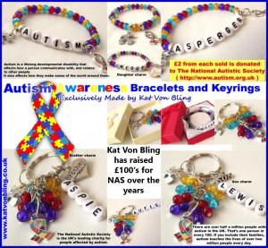 autism awareness bracelet keyring £ 8 00 £ 9 00 autism awareness ...