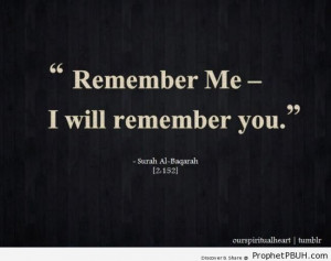 ... , Quran 2-152) - Islamic Quotes About Dhikr (Remembrance of Allah