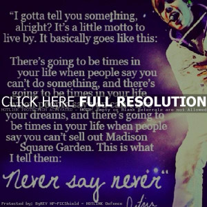 justin bieder, quotes, romantic, sayings, never say never
