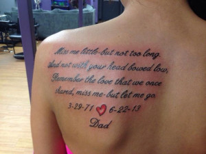 ... Meaningful Quotes Tattoo, Tattoo Of Quotes, Mean Tattoo Quotes, Dads