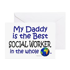 Best Social Worker In The World (Daddy) Greeting C for