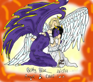 Displaying 18> Images For - Devil And Angel Love...