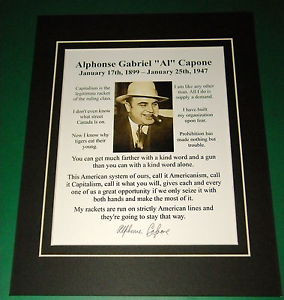 Al-Capone-Mobster-Reprint-Matted-9-Quote-Reprint-Signature-Display ...