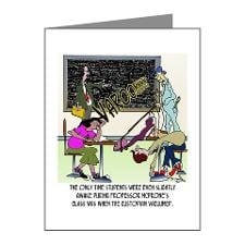 Staying Awake in Class Note Cards (Pk of 10) for