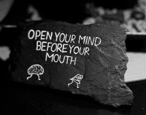 Open Your Mind Before