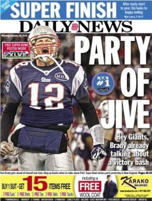 Tom Brady is hopeful of winning the Super Bowl and the New York media ...