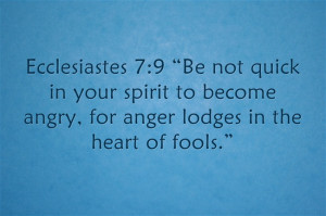 Top 7 Bible Verses Related to Anger