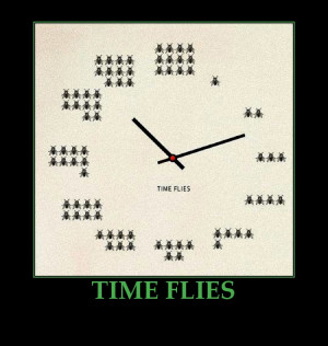 TIME FLIES-FUNNY PICTURE-CLOCK