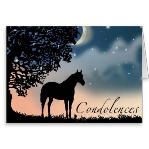 Quarter Horse Sympathy Card Mare Silhouette