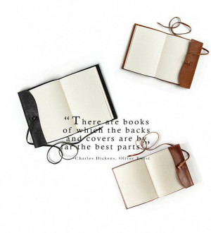 ... Refillable Wrap Journal - Oliver Twist by Charles Dickens quotes
