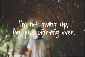 not giving up.....
