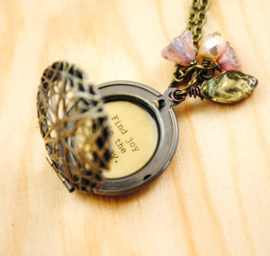 Find Joy in the Journey - Women's Quote Locket - Inspirational