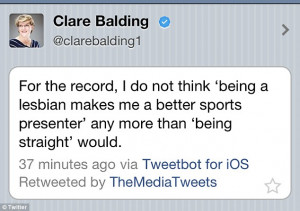 Update: Minutes later Clare quotes the Telegraph headline