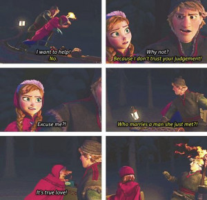 ... Want Anna's Help & Explains Why In Disney's Frozen Quotes
