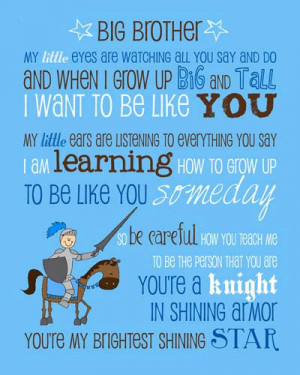 Big Brother Poem Saying Quote with Knight Instant by MyPoshDesigns