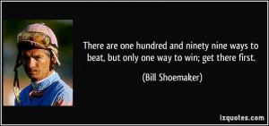 There are one hundred and ninety nine ways to beat, but only one way ...
