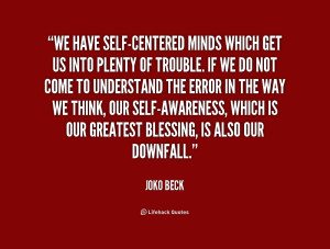 Quotes About Self Centered People