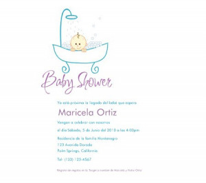 adorable baby shower invitations in spanish
