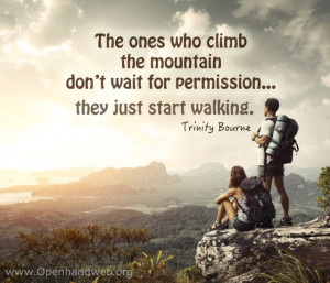 Climbing a mountain quote
