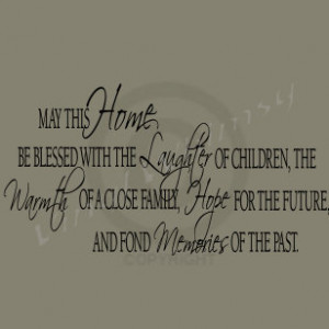 Vinyl Art - May This Home Be Blessed With The Laughter... - MVDEN006