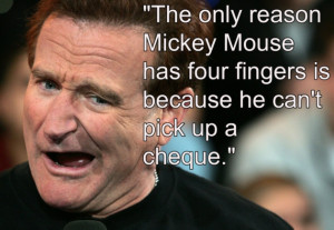 Robin Williams on his legal dispute with Disney over Aladdin (Photo by ...