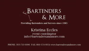 These are the bartender cards and more Pictures