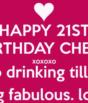 happy 21st birthday for girls