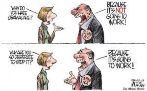 Cartoon on Defunding Obamacare - CartoonArts International