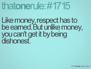 Respect Earned Quote