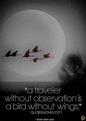 Saadi Shirazi observation quotes