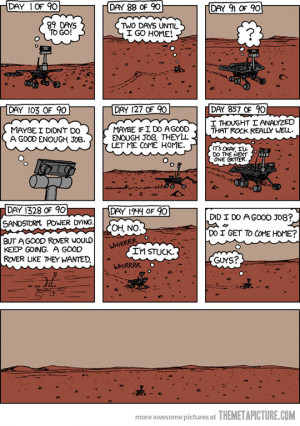 Funny photos funny Mars Rovers alone sad