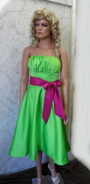 Black and Lime Green Bridesmaid Dresses