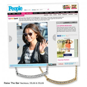 People.com featured Jaime Chung wearing the #liasophia Raise the Bar ...