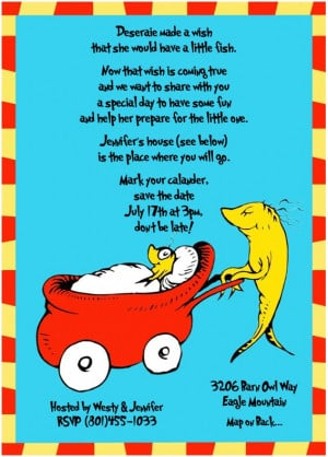 Sweeten Your Day Events: Dr. Suess Baby Shower