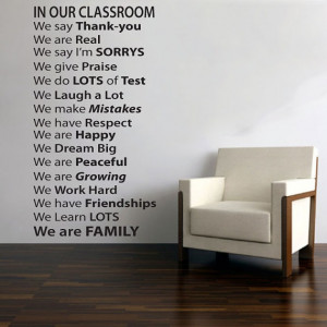 vinyl wall decal for classroom